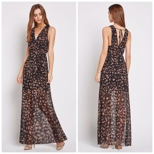 NWT BCBGeneration Black Star Sheer Maxi Dress